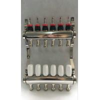 White Color Control Floor Heating Manifold Italy Style Flow Meter Manufactures