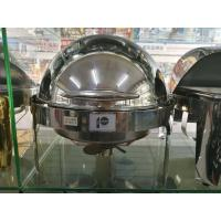 Mirror Finish Stainless Steel Cookwares / Round Food Pan with Round Roll Top Lid Fully Open at 180° Manufactures