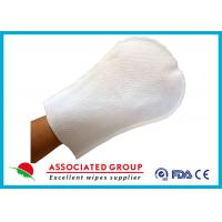 Arc Shape Exfoliating Bath Gloves For Patients Small Dot Ultra Thick Manufactures
