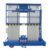 Electrical Pulling Device Quadruple Mast Aerial Work Platform 300Kg Load And 12 Meters Lifting Height Manufactures