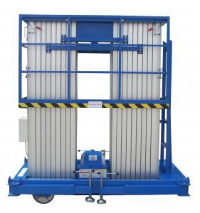 Quadruple Mast Insulated 10m Aerial Work Platform 300Kg with Rigid Aluminum Alloy Profile Manufactures