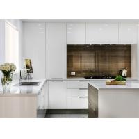 Lacquer Finish MDF Kitchen Cabinets With Blum , Hettich , Chinese Brand Hardware Manufactures