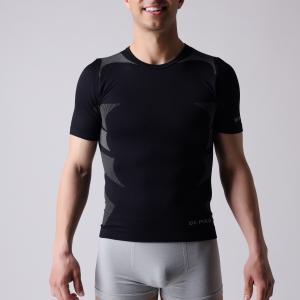 T-shirt,   short sleeve,  Men's sports wear,  black and  grey block,   XLSS002, man underwear,  seamless shirts. Manufactures