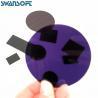380NM Ultraviolet Cut-Off Type Black Optical filter Glass ZJB380 Manufactures