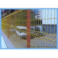 3D PVC Coated Green Security Steel Fence , 5.0mm Wire Mesh Fence Panels Manufactures