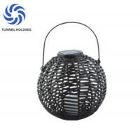 Solar Powered Decorative Lanterns With Flickering , Outdoor Candle Lanterns For Patio Manufactures