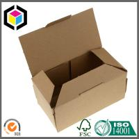 Plain Brown Kraft Packaging Box; Corrugated Single Wall Paper Box Manufactures