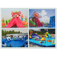0.9mm pvc tarpaulin Inflatable Water Toys Amusement Park , The Biggest Inflatable Water Park Manufactures
