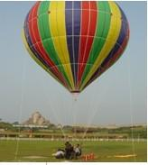 Large Sweet Air Colorful Inflatable Hot Air Balloon PVC Fireproof For School Manufactures