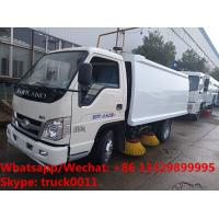 Customized forland 4*2 LHD mini 34.5KW diesel street sweeping vehicle for sale,road cleaning sweeping vehicle for sale Manufactures