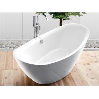 Quality Traditional Large Oval Freestanding Tub Deep Soaking With Gloss Surface for sale