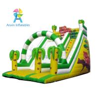 Small indoor/outdoor park games cute inflatable tiger slide for sale