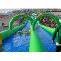 Double Lane Inflatable Slip N Slide 100m Long For Kids N Adults Manufactures