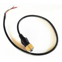 Driving Safty Mini Din 6 PIN Connector Backup Camera Cable With Single shielding Manufactures