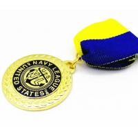 Medal Factory hot selling running metal award medal with ribbon Manufactures