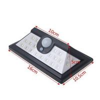 Quality Modern Style Solar Security Sensor Light / Outside PIR Wall Lights With SMD LED for sale