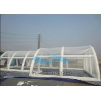 Customized Clear Bubble Tent Night Inflatable Rain Cover / Pool Covers Tent Manufactures