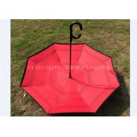 Windproof Large Reverse Folding Umbrella That Folds Inside Out Rain Protection Manufactures