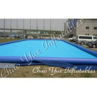 Blue Outdoor Inflatable Pool IP17 0.6mm / 0.9mm For Entertainment Center(CYPL-1506) Manufactures
