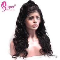 100% Human Brazilian Virgin Hair Extensions Cuticle Body Wave , Plucked Lace Front Wig With Baby Hair Manufactures