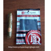 Buy cheap Custom Cigar Humidor Bags / Cigar Wraps with Zipper and Window from wholesalers