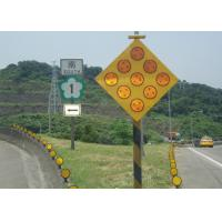 Buy cheap Yellow Solar Powered Traffic Signals , LED Solar Powered Warning Lights from wholesalers
