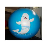 Quality Fish Personalised Printed Balloons Round Cartoon Inflatable Spheres for sale