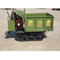 0.8 Ton Mini Self Loading Rubber Small Tracked Dumper With Diesel Engine Manufactures