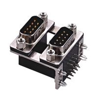 D type  two part  with fork Right Angle Dual Row D Sub Connector PBT black 15 Pin wcon ROHS Manufactures