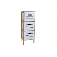 BSCI 86cm High Bedside Storage Cabinet With 3 Drawers Manufactures