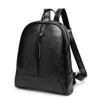 Double Zipper Fashion Ladies Backpack With Waterproof Leather / Reinforce Shoulder Straps