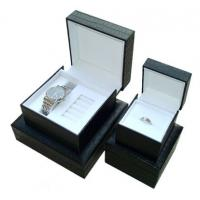 6 * 6 * 4 Inch Paperboard+Pu Fancy Paper Gift Box For Watch Packaging Manufactures