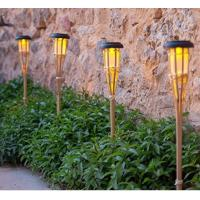 Easy Install Bamboo Solar Garden Lights Weather Resistant For Borders / Patios Manufactures