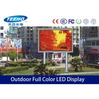 China SMD P10 Outdoor Full Color Led Signs Display 1R1G1B , Seamless LED Screens For Cross Road on sale