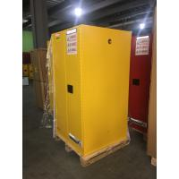 Yellow Industrial Safety Cabinets , Flame Proof Storage Cabinets With Double Lock 60 galloncapacity Manufactures