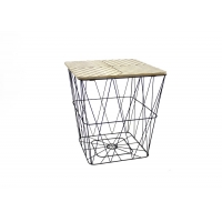 42cm Height 40cm Length Metal Basket Coffee Table Manufactures