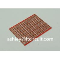 Gold Plated Red Double Sided PCB Semi Holes Side Rails White Lenged Manufactures
