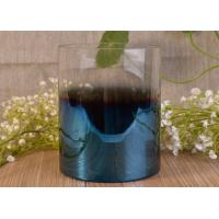 Vertical Wedding Decoration Glass Candle Jars With Iridescent Ombre Electroplated Manufactures
