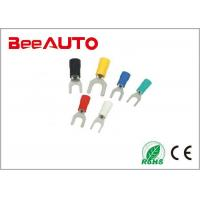 0.5 - 6mm² Tin Plated Fork Terminal Connectors , Lug Furcate 8 Awg Fork Terminal SVS1.25-3 Manufactures