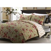 Printed Machine Quilting Bedspreads And Coverlets 3pcs Color / Pattern Customized Manufactures