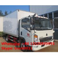 Factory direct sale HOWO 160hp refrigerated freezing goods truck, best price SINO TRUK HOWO Light duty cold room truck Manufactures