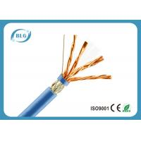High Speed Cat 7 Ethernet Cable 1000 FT / Blue Cat7 Bulk Network Cable Manufactures