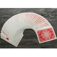 Size 63 x 88 MM Casino Playing Cards German Blackcore Paper Linen Manufactures