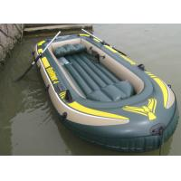 Colorful olympic PVC Inflatable Fishing Boat tender for water games Manufactures