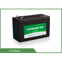 China Light Weight Deep Cycle Lithium Battery 12V 6Ah With Black Plastic Case on sale
