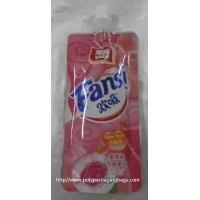 fruit shape packaging pouch reseable stand up pouch packaging bags with spout juice drink plastic spout pouch Manufactures