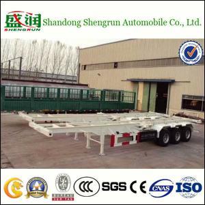 Shengrun Skeletal 40 Feet Container Semi Trailer Manufactures