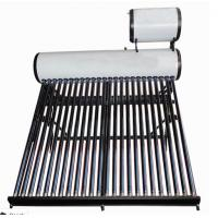 non pressure evacuated tube solar water heater with 20liter horizontal feeder tank Manufactures