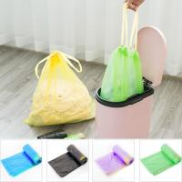 Yellow String Colored Trash Bags , Can Liners Trash Bags Custom Printing Manufactures