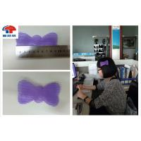 China Butterfly Hair Bow Clip / Hair Clips Sticky Hook And Loop Tape For Long Hair on sale